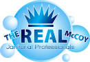 The Real McCoy Janitorial Professionals Logo