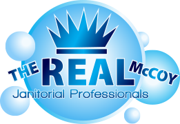 The Real McCoy Janitorial Professionals Retina Logo
